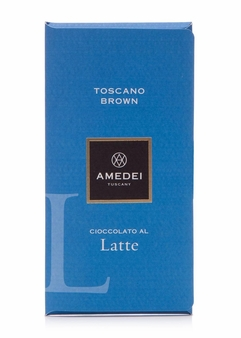 Amedei Toscano Brown Latte Milk Chocolate Bar, 50g/1.75oz (12 Pack)