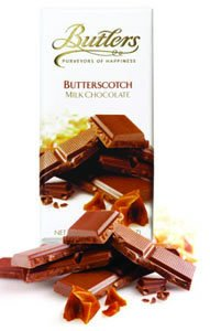 Butlers Butterscotch Milk Chocolate Bar 100g /3.52oz  (Single)