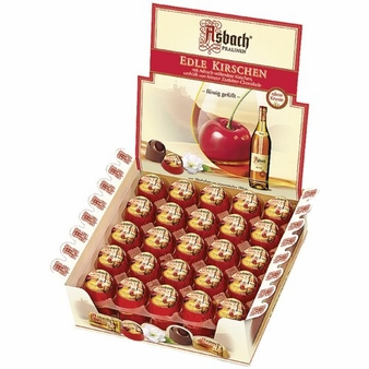 Asbach Edle Kirschen Chocolate Brandy Cherries , (50 Piece Box )