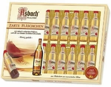Asbach Zarte Fl�schchen, 20 Brandy-filled Pralines, Gift Box, 250g / 8.8oz (Single)