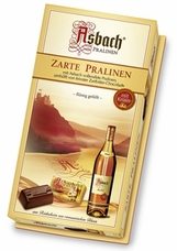 Asbach Zarte Pralinen, Brandy filled Pralines with Sugar Crust, Gift Box, 250g / 8.8oz. (Single)
