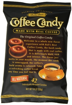 Balis Best- Coffee Candy, 5.3oz/150g (6 Pack)