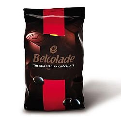 "Belcolade Belgian Chocolate - Dark Bitter-Sweet Chocolate Discs, ""Noir Superieur"", 60.0% Cocoa, (11 Lb./5kg. Bag)"