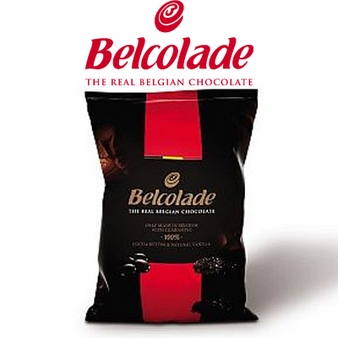 "Belcolade Belgian Chocolate - Dark Semi-Sweet Chocolate Discs, ""Noir Selection"", 55.0% Cocoa, (11 Lb./5kg. Bag)"