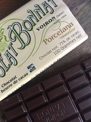 "Bonnat Chocolate - ""Porcelana"", Bittersweet Dark Chocolate, 75% Cocoa, 100g/3.5oz"