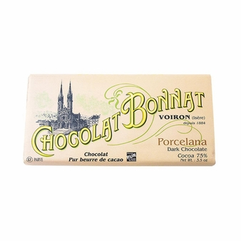 "Bonnat Chocolate - ""Porcelana"", Bittersweet Dark Chocolate, 75% Cocoa, 100g/3.5oz  (Single)"