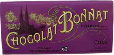 "Bonnat ""Cuba"" - 75% Cocoa Dark Chocolate, French Chocolate Bar, 100g/3.5oz.  (Single)"