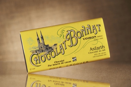 "Bonnat French Chocolate - ""Asfarth"" 65% Cocoa Milk Chocolate, 100g/3.5oz.(5 Pack)"