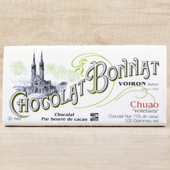 "Bonnat French Chocolate - ""Chuao"" 75% Cocoa Dark Chocolate, 100g/3.5oz.(5 Pack)"