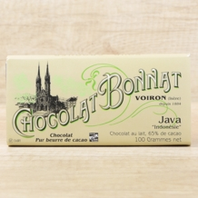 "Bonnat French Chocolate - ""Java"" 65% Cocoa Milk Chocolate, 100g/3.5oz. (Single)"