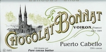"Bonnat French Chocolate - ""Puerto Cabello"" 75% Cocoa Dark Chocolate, 100g/3.5oz.(5 Pack)"