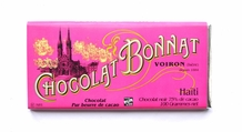 "Bonnat ""Haiti"" - 75% Cocoa Dark Chocolate, French Chocolate Bar, 100g/3.5oz. (5 Pack)"