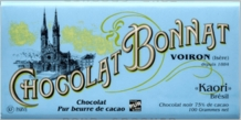 "Bonnat ""Kaori"" 75% Cocoa Dark Chocolate Bar 100g (Pack of 5)"
