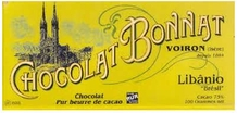 "Bonnat ""Libanio"" Brazil - 75% Cocoa Dark Chocolate, French Chocolate, 100g/3.5oz.(5 Pack)"