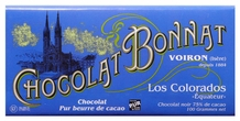 "Bonnat ""Los Colorados"" Ecuador - 75% Cocoa Dark Chocolate, French Chocolate, 100g/3.5oz. (Pack of 5)"