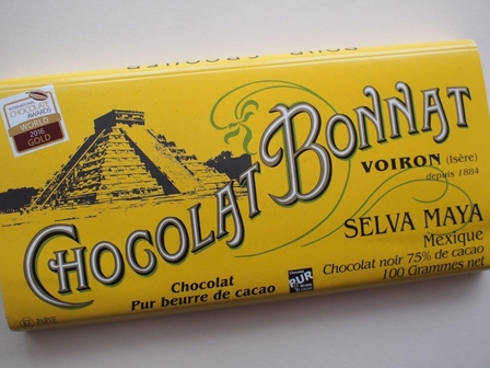 "Bonnat ""Selva Maya"" Mexico - 75% Cocoa Dark Chocolate, French Chocolate, 100g/3.5oz. (Pack of 5)"