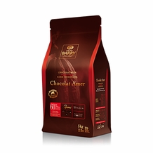 "Cacao Barry Dark Chocolate ""Chocolat Amer"" Pistoles (Discs) , 60% Cocoa,  (5kg/11lb.Bag)"