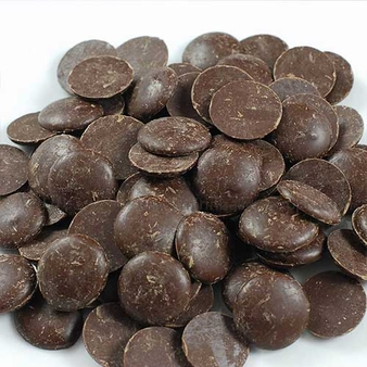 """Cacao Barry Dark """"Favorites Mi-Amere"""" Pistoles (Discs), 58% Cocoa, (1 Pound Repackaged)"""