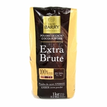 "Cacao Barry - ""Extra Brut"" 22/24% Cocoa Powder, 1kg/2.2lb. - 6 Bag Case"