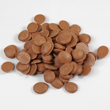 "Cacao Barry Milk Chocolate ""Lactee Barry"" Pistoles (Discs) , 35.3% Cocoa, (1 Pound Repackaged)"