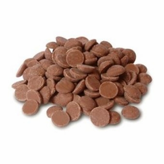 "Cacao Barry Milk Chocolate ""Lactee Superieure"" Pistoles (Discs) , 38.2% Cocoa, (1 Pound Repackaged)"