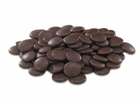 """Cacao Barry Semi-Sweet Dark Chocolate """"Force Noire"""" Pistoles (Discs) , 50% Cocoa, (1 Pound Repackaged)"""