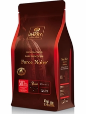 "Cacao Barry Semi-Sweet Dark Chocolate ""Force Noire"" Pistoles (Discs) , 50% Cocoa, (11lb./5kg Bag)"