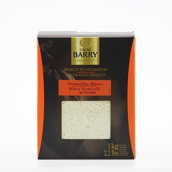 "Cacao Barry - ""White Vermicelli"", Box 1kg/2.2lb"