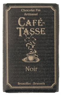 Café - Tasse Belgian Chocolate - 57% Dark Chocolate Bar, 100g/3.5oz.  (5 Pack)