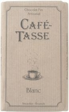 "Café - Tasse Belgian Chocolate - ""Blanc"" White Chocolate Bar, 100g/3.5oz. (12 Pack)"