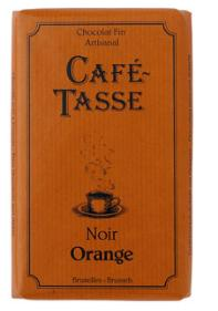 Café - Tasse Belgian Chocolate - Dark Chocolate Bar with Orange Peel, 54% Cocoa, 85g/3oz. (5 Pack)