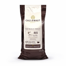 Callebaut Belgian Chocolate 815 Dark Chocolate Semisweet Callets/Chips 56.9% Cocoa (10kg/22-lb Bag)