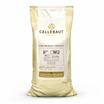 Callebaut Belgian Chocolate CW2 White Chocolate Chips, 25.9% Cocoa 10kb/22lb Bag