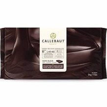 Callebaut L-60-40 Belgian Chocolate, Dark Chocolate Bitter - Sweet BLOCK, 60.6% Cocoa, natural vanilla, 5-Bar Case 25kg/55.0lbs.
