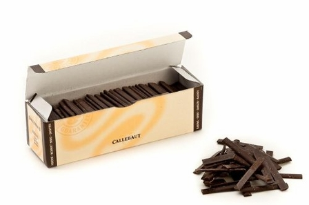 "Callebaut Belgian Chocolate - Dark Chocolate Sticks ""Batons"" 300 Ct. 8cm"" ea."