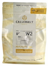 Callebaut Belgian Chocolate W2 White Chocolate Chips, 28.1% Cocoa 2.5kg/5.5lb Bag