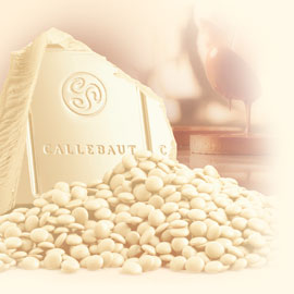"""Callebaut Belgian Chocolate, White Chocolate """"Chips"""", Chocolate Chips, 25.9% Cocoa,  (2 lbs Repackaged)"""