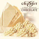 """Callebaut Belgian Chocolate, White Chocolate """"Chips"""", Chocolate Chips, 28.1% Cocoa, 2kg/5.5lbs. Bag"""