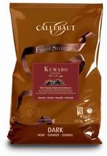 """Callebaut (Finest Selection) Chocolate, """"Kumabo"""" Extremely Dark Chocolate Extra - Bitter """"Callets"""", Chocolate Chips, 80.1% Cocoa, 2.5kg/5.5lbs"""