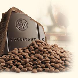 "Callebaut ""Finest Selection"" Dark Chocolate, ""Kumabo"" Extra Bitter Callets/Chips 80.1% Cocoa (2-lb Repackaged)"