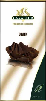 "Cavalier Belgian Chocolate - Dark Chocolate ""No Sugars Added"", 55% Cocoa, 85g/3.0oz. (6 Pack)"