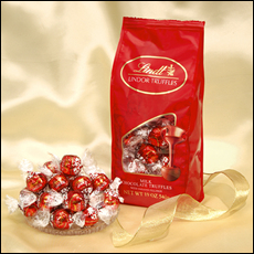 Basket  - Lindt Milk Chocolate Truffle (red wrap) 120 Pieces