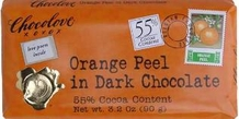 "Chocolove Belgian Chocolate - ""Orange Peel"" in Dark Chocolate, 55% Cocoa, 90g/3.2oz. (12 Pack)"