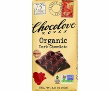 "Chocolove Belgian Chocolate - ""Organic"" Dark Chocolate, 73% Cocoa, 90g/3.2oz. (12 Pack)"