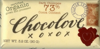 "Chocolove Belgian Chocolate - ""Organic"" Dark Chocolate, 73% Cocoa, 90g/3.2oz. (6 Pack)"