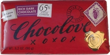 Chocolove Belgian Chocolate - Rich Dark Chocolate, 65% Cocoa, 90g/3.2oz. (6 Pack)