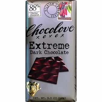 Chocolove - Extreme Dark Chocolate 88% Cocoa 3.2oz (Pack of 6)