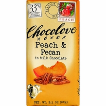 "Chocolove - ""Peach & Pecan in Milk Chocolate"", 33% Cocoa, 90g/3.2oz. (6 Pack)"