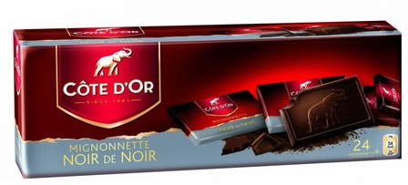 "Cote d'or Belgian Chocolate - Dark Chocolate ""Noir de Noir"" Mignonettes 54% Cocoa, 240g/8.4oz.  (12 Pack)"