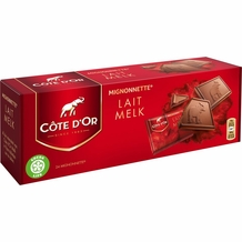 "Cote d'or Belgian Chocolate - Milk Chocolate ""Lait - Milk"" Mignonettes 35% Cocoa, 240g/8.4oz.  (12 Pack)"